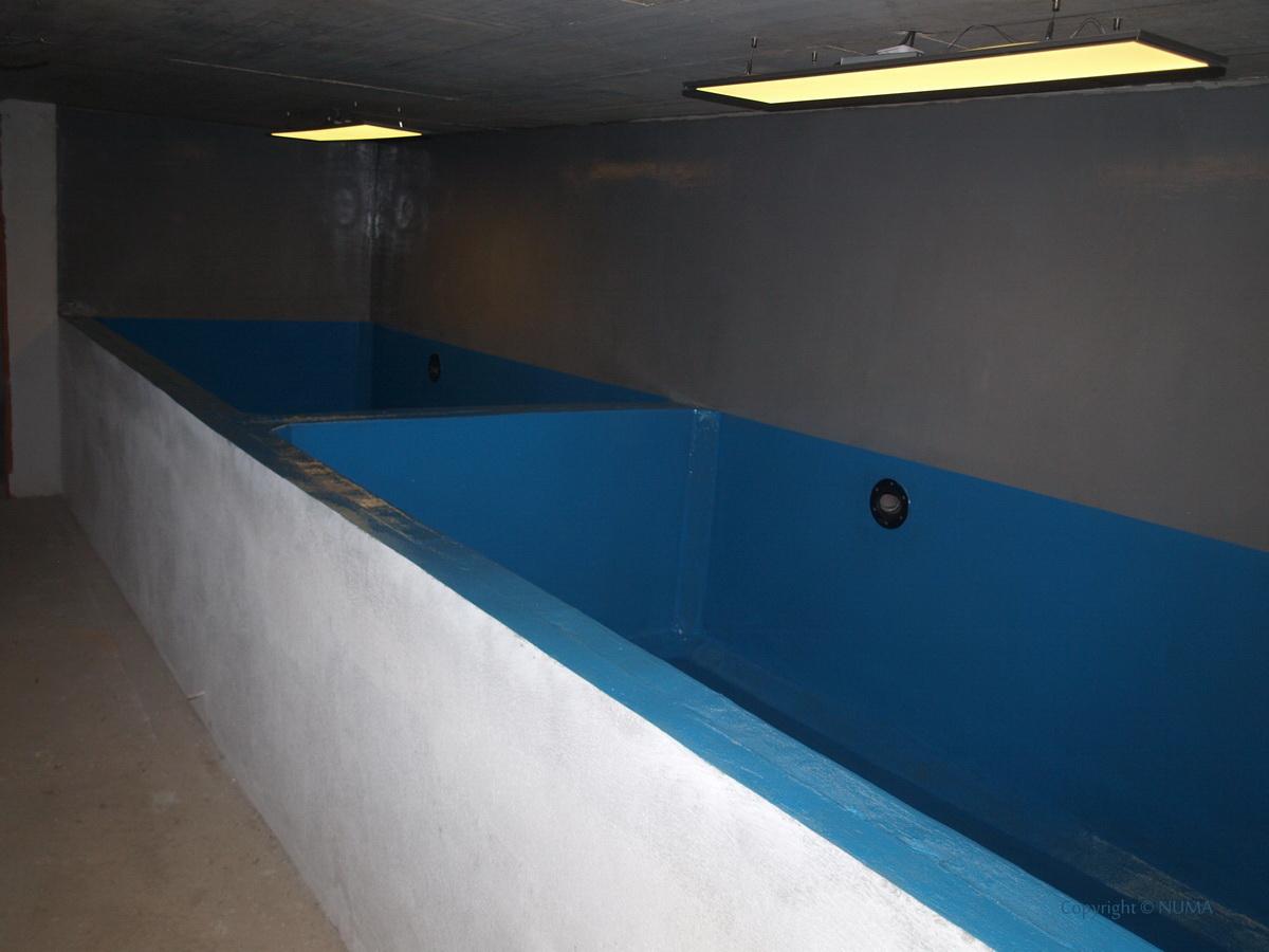Murované nádrže na zimné ustajnenie KOI kaprov