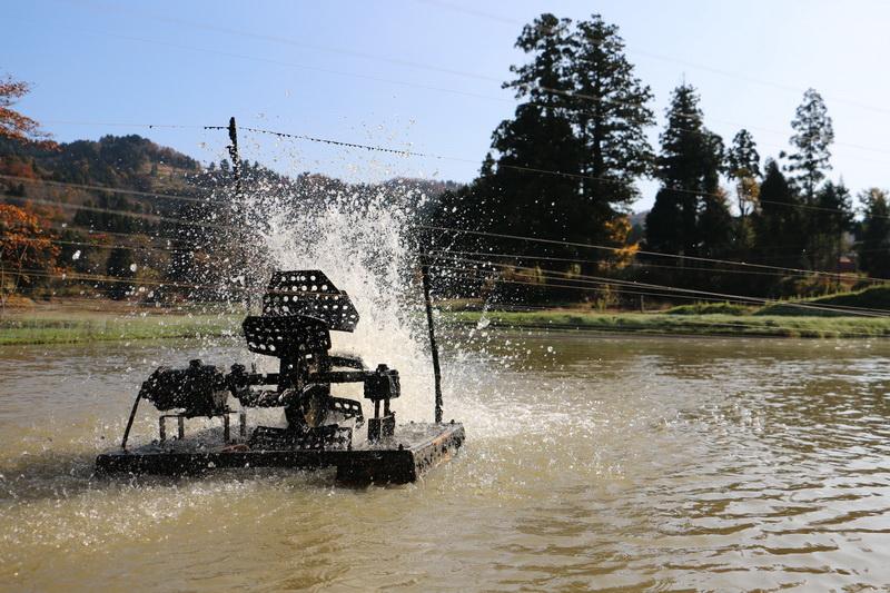 Prevzdušnovanie rybníka v Japonsku