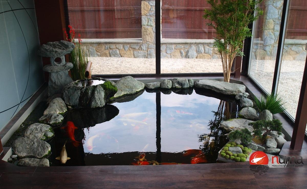 Japanese Pond Inside Our Winter Garden Numa