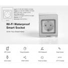 Vodeodolná WiFi inteligentná zásuvka
