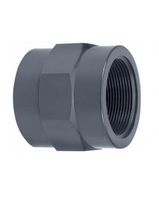PVC Spojka 50mm vnútorný závit 1½