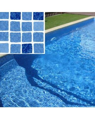 Bazénova fólia Mosaic Blue