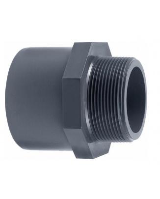 PVC Spojka 50x63mm vonkajší závit 1¼