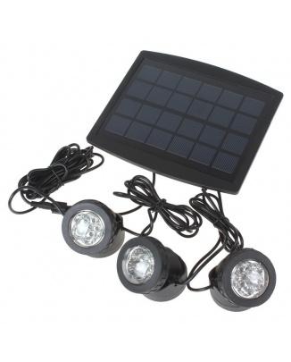 Set 3 svetiel so solárnym panelom