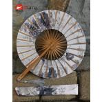 Okrúhly japonský bambusový vejár