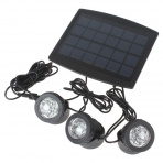 Solar set 3 LED Lights with Solar Panel
