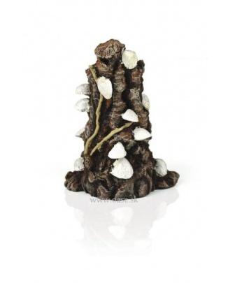 biOrb Shells on bark ornament white