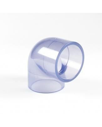 PVC Priesvitné koleno 25 mm 90°