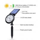 Záhradné 9 LED solárne svetlo