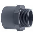 PVC Spojka 50x63mm vonkajší závit 1