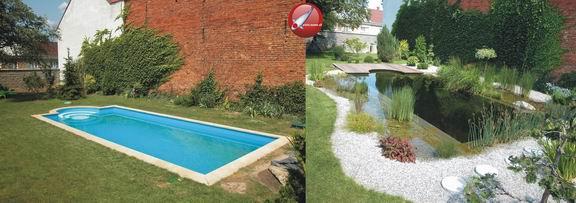 Prerábka bazéna na kúpacie jazierko